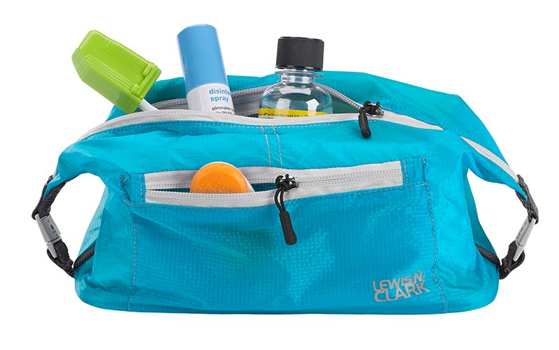 Blue toiletry kit