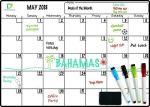 whote board calendar